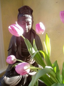 kwan yin met tulp